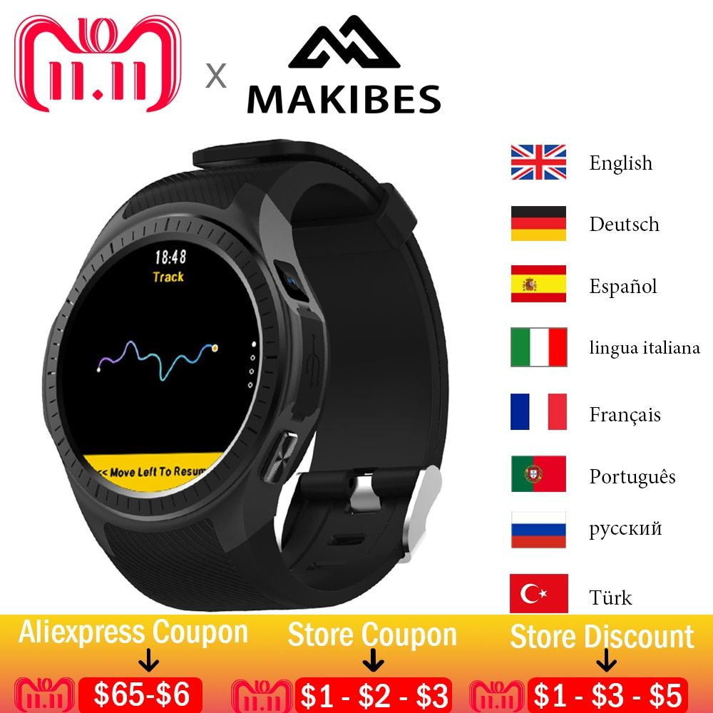 11.11 Makibes G05 Pro GPS Watch Bluetooth Smart Watches Heart Rate Monitor Call Message Reminder Music Player Multiple Sports