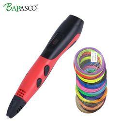 BAPASCO Original BP-04 3D druck stift 1,75mm ABS Smart 3d zeichnung stifte mit Filament LED Display für die Kinder geschenke USB Ladung