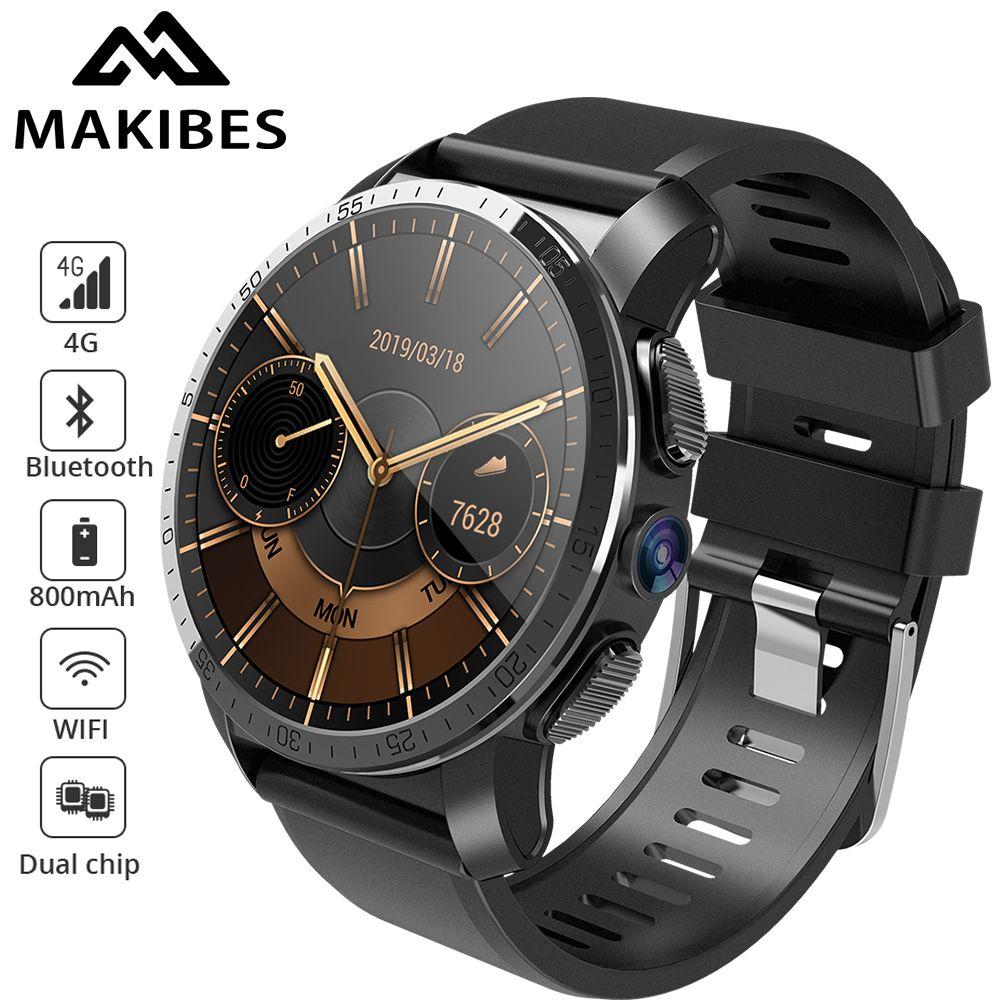 Makibes M3 4G MT6739 + NRF52840 Dual chip Wasserdichte Intelligente Uhr Telefon Android 7.1 8MP Kamera GPS 800 mAh Antwort rufen SIM TF karte