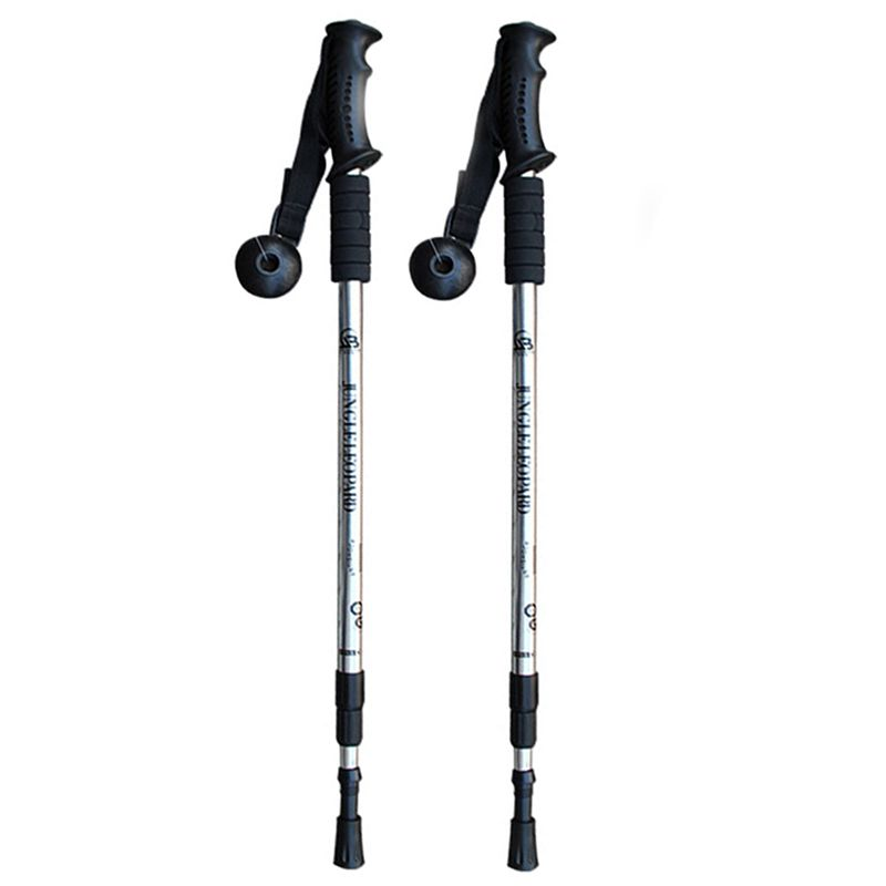 2 pièces/lot bâtons de marche nordique bâtons de randonnée réglables télescopiques bâtons de marche scandinaves Anti choc bâton de randonnée