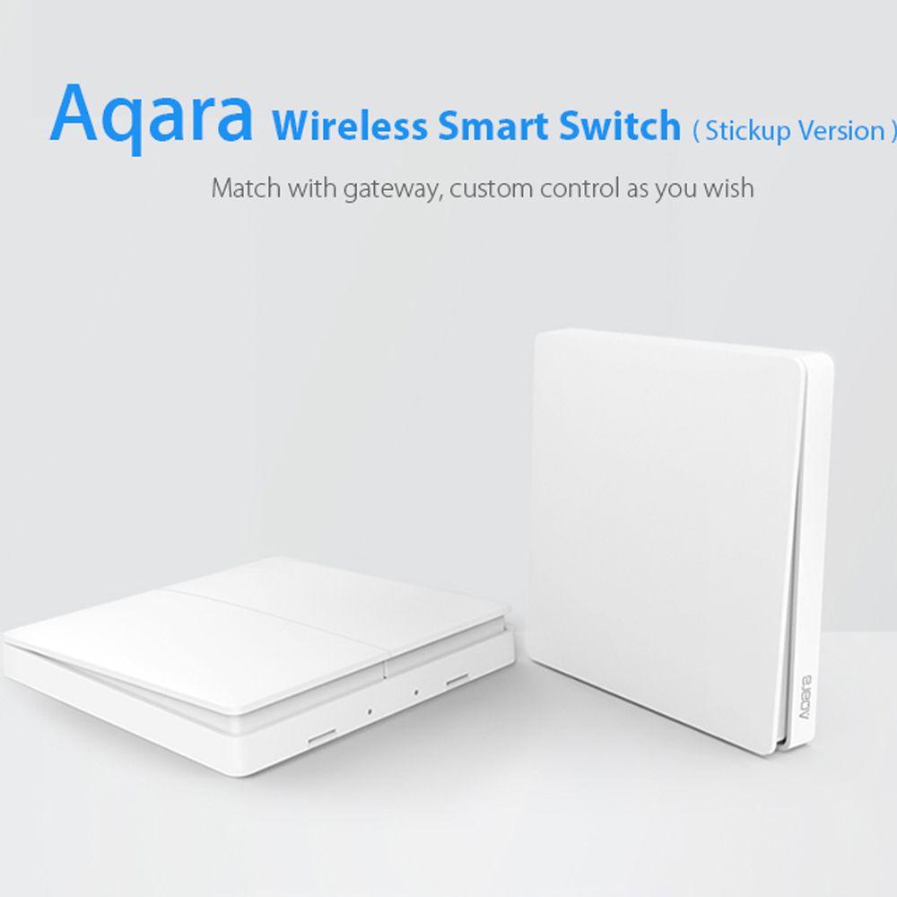 Original Xiaomi Aqara Smart Light Switch Wireless Stickup Version Singel Key Double Key ZiGBee Wifi Wireless Control No Wired