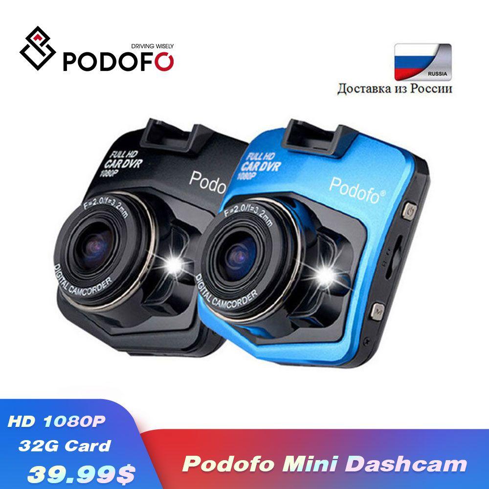 2019 nouveau Original Podofo A1 Mini voiture DVR caméra Dashcam Full HD 1080 P enregistreur d'enregistrement vidéo g-sensor Vision nocturne caméra de tableau de bord
