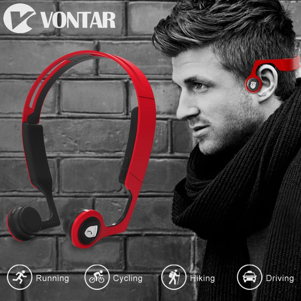 ES268 Bone Conduction fone de ouvido sem fio Bluetooth Wireless Sports Headsets Sweat proof Hands Free for iphone phone xiaomi