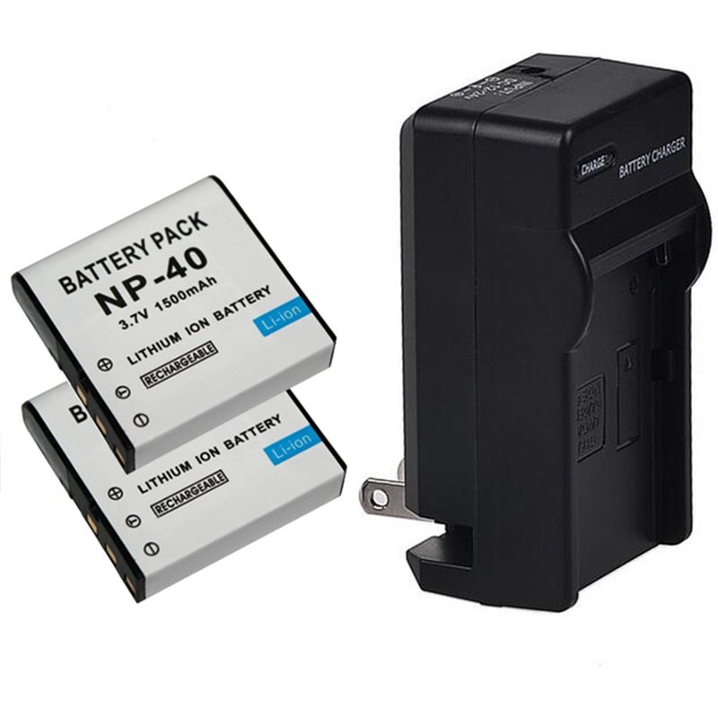 2pcs 1500mAh NP-40 NP40 Camera Battery Pack for Casio EX-Z30/Z40/Z50/Z55/Z57/Z750 EX-P505/P600/P700 PM200 Battery NP 40