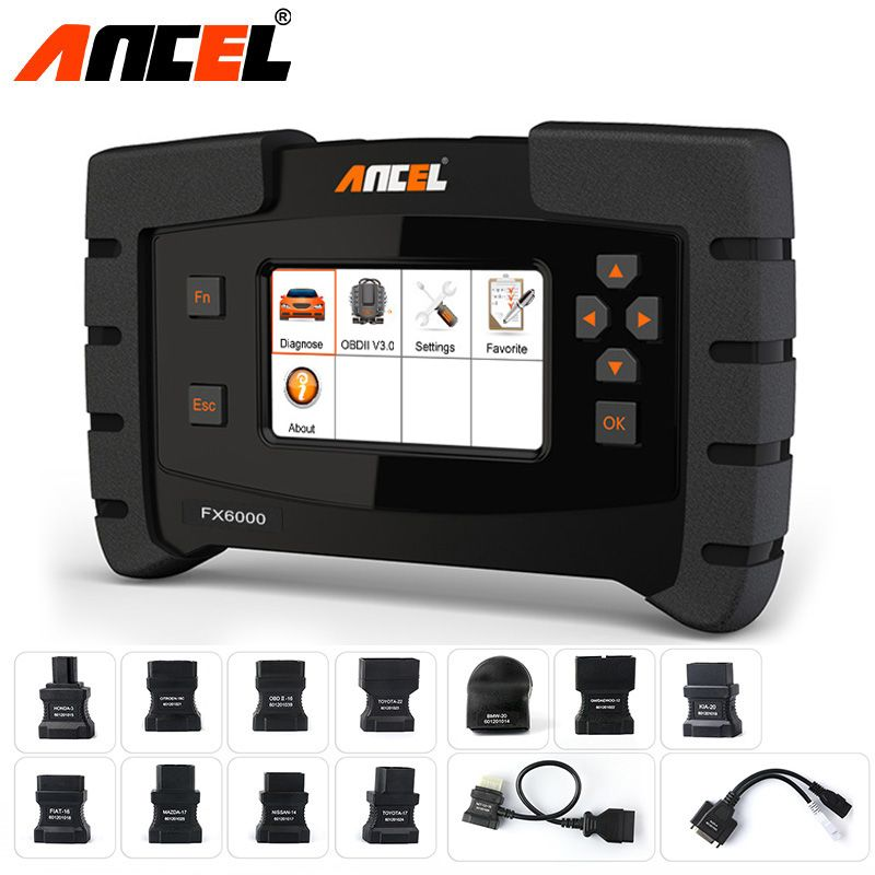 ANCEL FX6000 OBD2 Scanner Full System ODB Diagnostic Scan Tool Engine ABS Transmission TPMS DPF EPB IMMO Coding Key Programming
