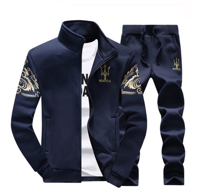 Comercio al por mayor de Trajes Casuales de Los Hombres Delgados Del Suéter Escudo Wei Pantalones de Dos Piezas de Ropa de Los Hombres 2757