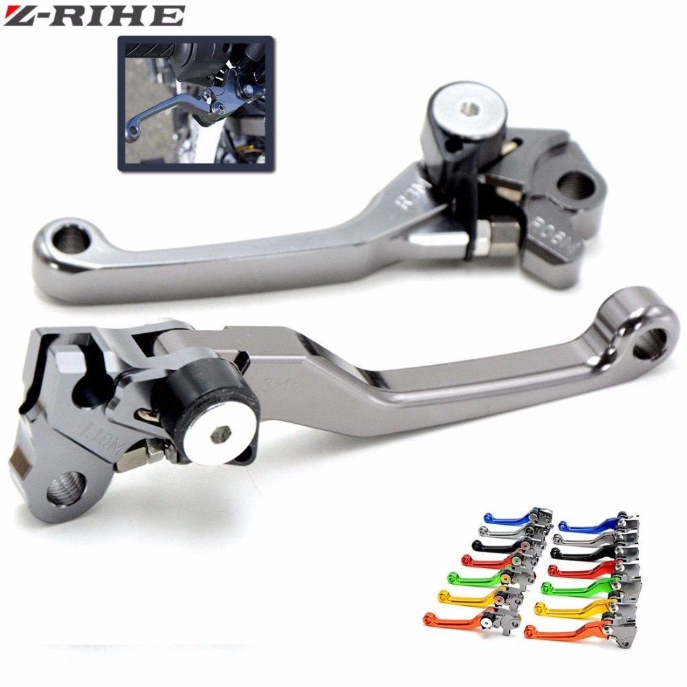 Motocross dirt bike CNC Pivot Brake Clutch Levers For YAMAHA YZ80 85 125 250 250F 425F 450F 250X 250FX WR 450 F WR 250R 250F