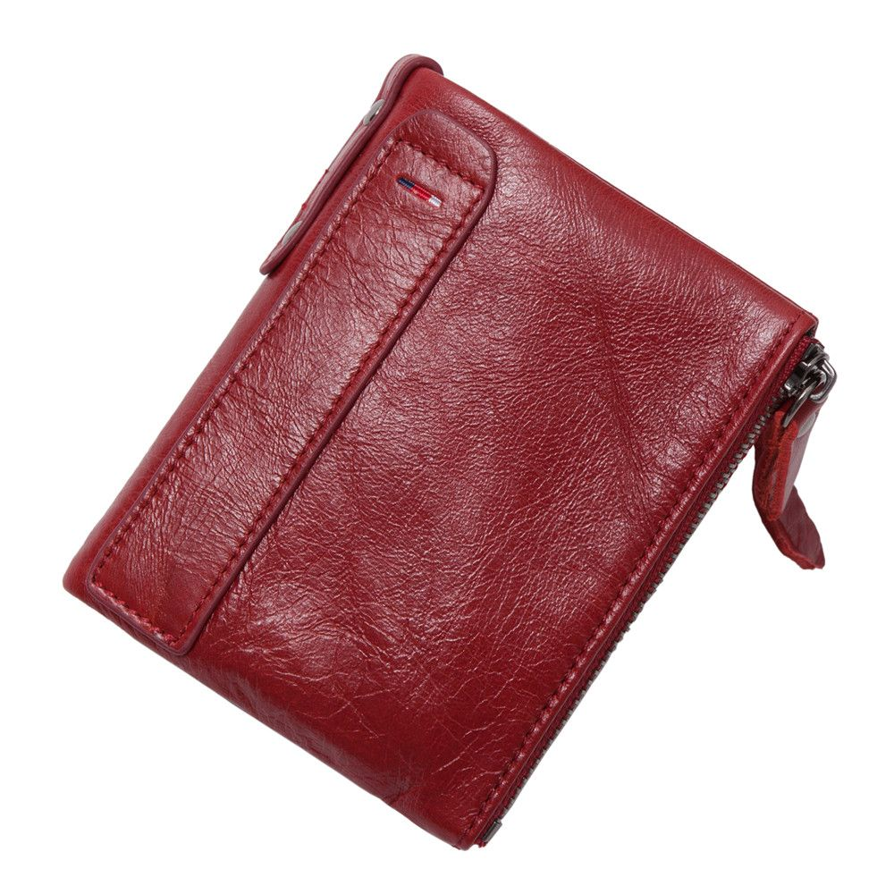2017 Hot!! New Vintage Small Women Wallets Female Genuine Leather Womens Wallet Zipper Design With Coin Purse Pockets Mini Walet