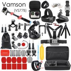 Vamson für Gopro Zubehör für go pro hero 7 6 5 4 3 kit 3 weg selfie stick für Eken h8r/für xiaomi für yi EVA fall VS77
