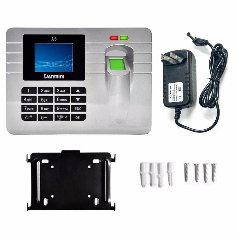 DANMINI A5 Fingerprint sensor Mitarbeiter Teilnahme Maschine Zeit Uhr Recorder 2,4-Zoll TFT Farbe Bildschirm fingerprint türschloss