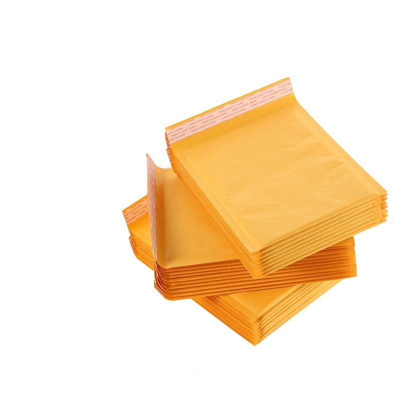 (130*150mm) 100pcs/lots Bubble Mailers Padded Envelopes Packaging Shipping Bags Kraft Bubble Mailing Envelope Bags New
