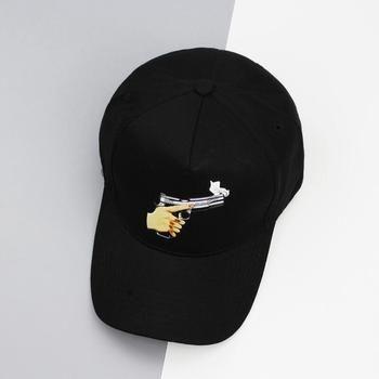 2017 новые поступления Новая мода унисекс Snapback шляпа от солнца Хлопок Бейсболки сплошной черный цвет