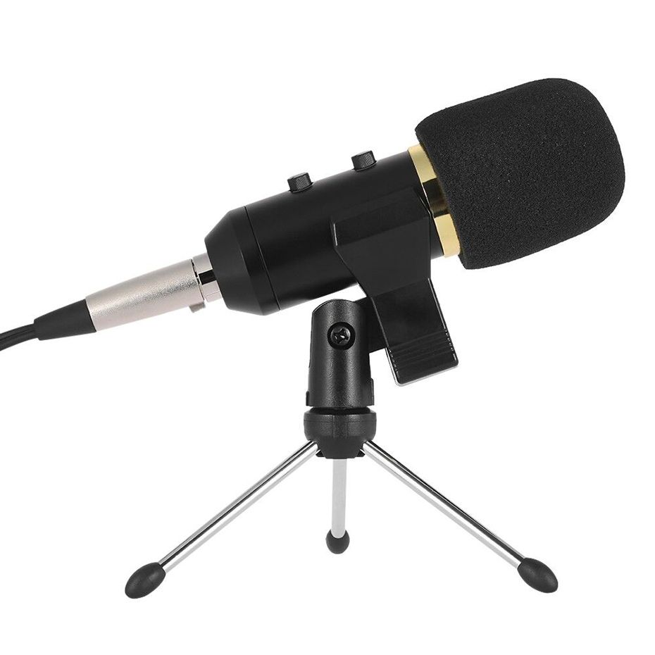 MK F100TL Wired Microphone Handheld Mic For Video Recording USB PC Condenser Noise Cancelling Microphone with Stand For Computer