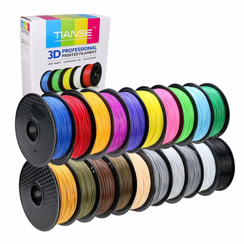 3D Filament différentes couleurs PLA 1.75mm 400 m long PLA impression consommables matériel pour 3D imprimante 3D stylo ABS PLA en plastique En Caoutchouc