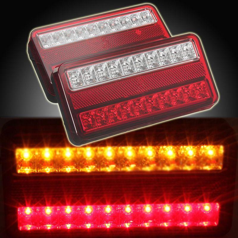 New 2x 20 LED 12V Tail Light Car Truck Trailer Stop Rear Reverse Auto Turn Indicator Lamp Back Up Led Lights Turn Signal Lamp
