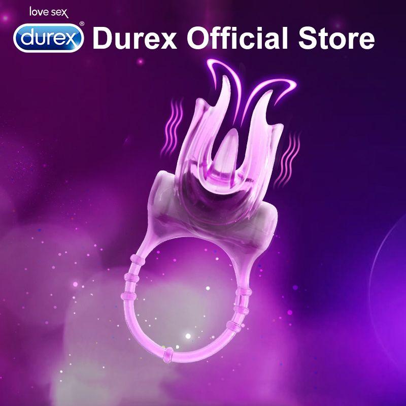 Durex Vibrating Ring Clitoris Stimulation Devil Ultra Fire Finger Vibrator Extender Ring Intimate Goods Sex Toy for <font><b>Couples</b></font> Sex