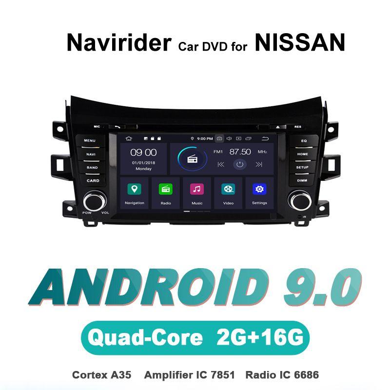 Navirider OS 9,0 Auto Android-Player Für NISSAN NAVARA NP300 stereo radio gps navigation BT TDA7851 Verstärker sound System