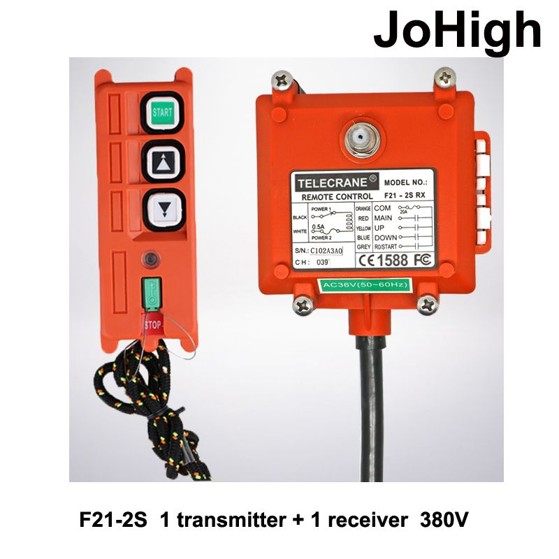 High Quality Wireless Industrial Remote Controller Electric Hoist Remote Control Winding Engine Sand-blast Equipment Used F21-2S
