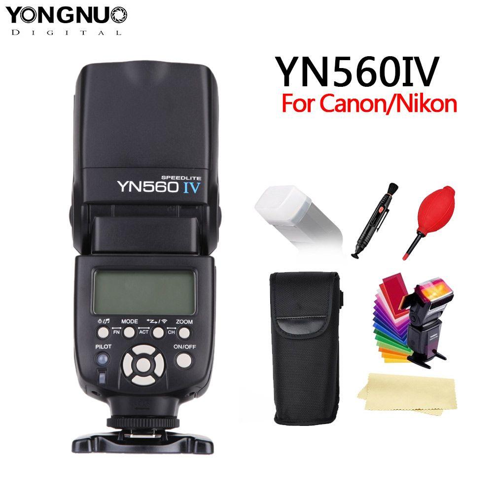 YONGNUO YN560 IV 2.4GHZ Wireless Flash Speedlite Transceiver <font><b>Integrated</b></font> for Canon Nikon Panasonic Pentax Camera