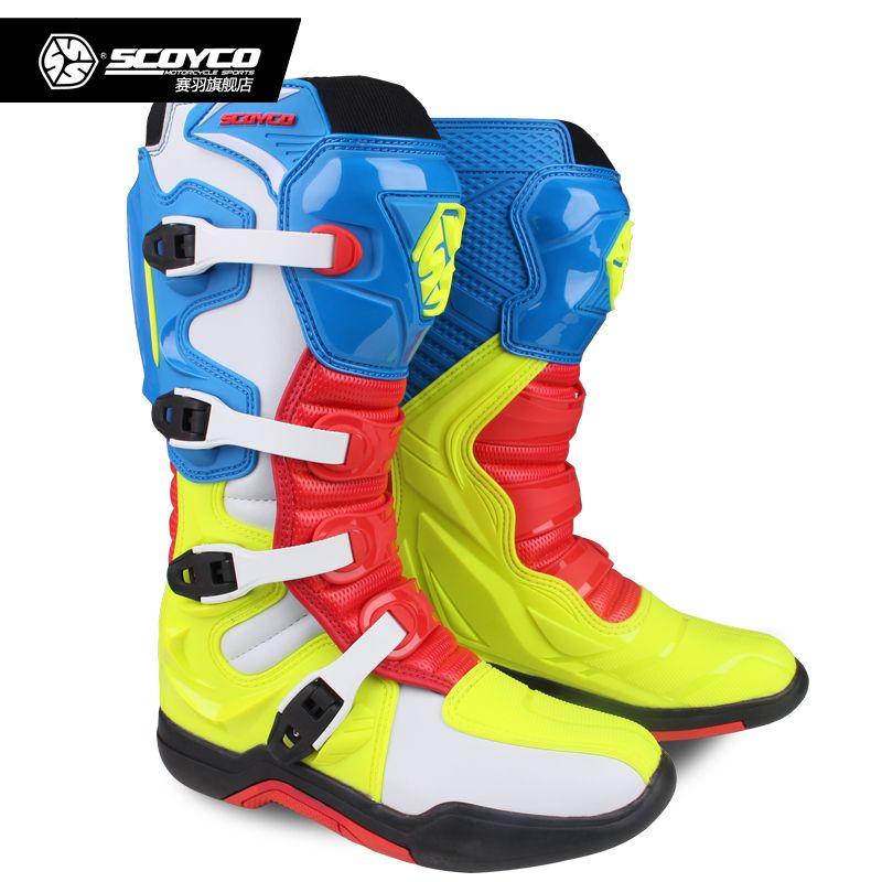 SCOYCO Off-road Lange Racing getriebe Stiefel Motocross Motorrad Reiten Lange Knie Hohe Schuhe Schwere Schutz Getriebe stiefel MBM003