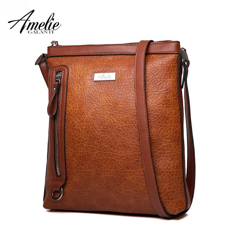 AMELIE GALANTI Frauen Tasche Schulter & Umhängetaschen Medium Größe Hohe Qualität Leder Dame Stilvolle Multifunktionale Tasche für 2018