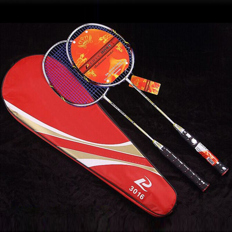 JUNRUI 2017 New Powerful badminton racket strong ultra light stiff high modulus graphite badminton rackets male racquet LD3016
