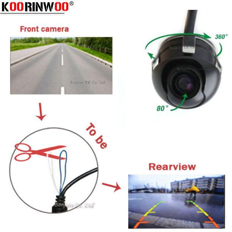 Koorinwoo HD Vision nocturne caméra de recul 360 degrés caméra de recul caméra de recul côté caméra de recul aide au stationnement
