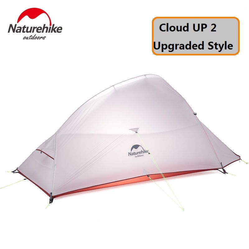 Naturehike Factory 2 Person CloudUp UPGRADED Tent 20D Silicone Fabric Double-layer Camping Tent Lightweight DHL free shipping