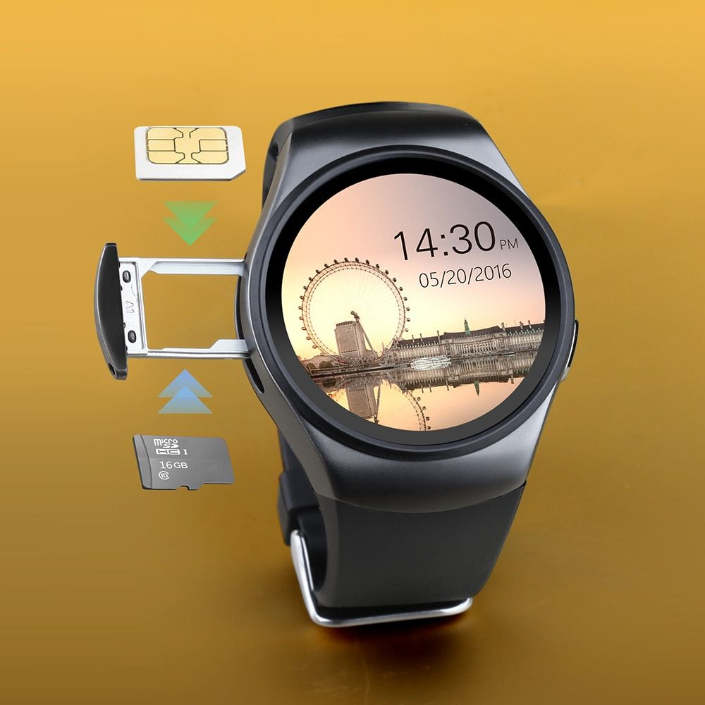 KW18 Bluetooth Smart Watch TK2502C 1.3 inch HD IPS Wristwatch SIM TF Card Slot Heart Rate Monitor Reloj Inteligente Smartwatch
