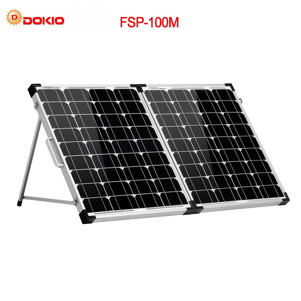 Dokio 100W (2Pcs x 50W) Foldable Solar Panel China Mono pannello solare usb Controller Solar Battery Cell/Module/System Charger