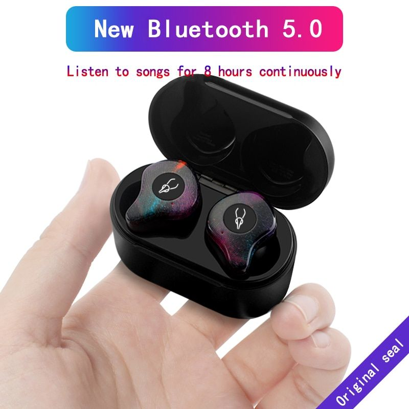 Sabbat X12 Bluetooth 5.0 3D Stereo Sound Bluetooth Earphone Invisible True Wireless Waterproof Sport Earbuds with Power Bank