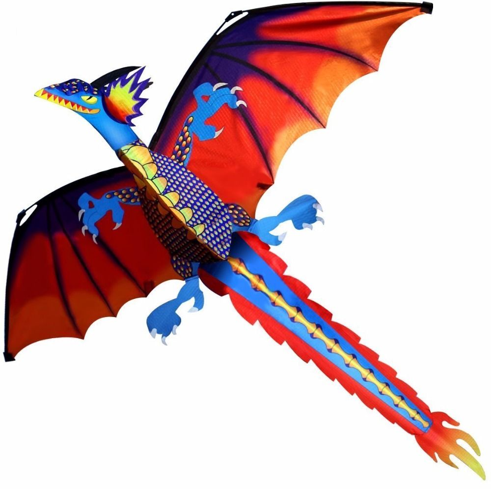 New High Quality Classical Dragon Kite 140cm x 120cm Single Line With <font><b>Tail</b></font> With Handle and Line Good Flying Kites From Hengda