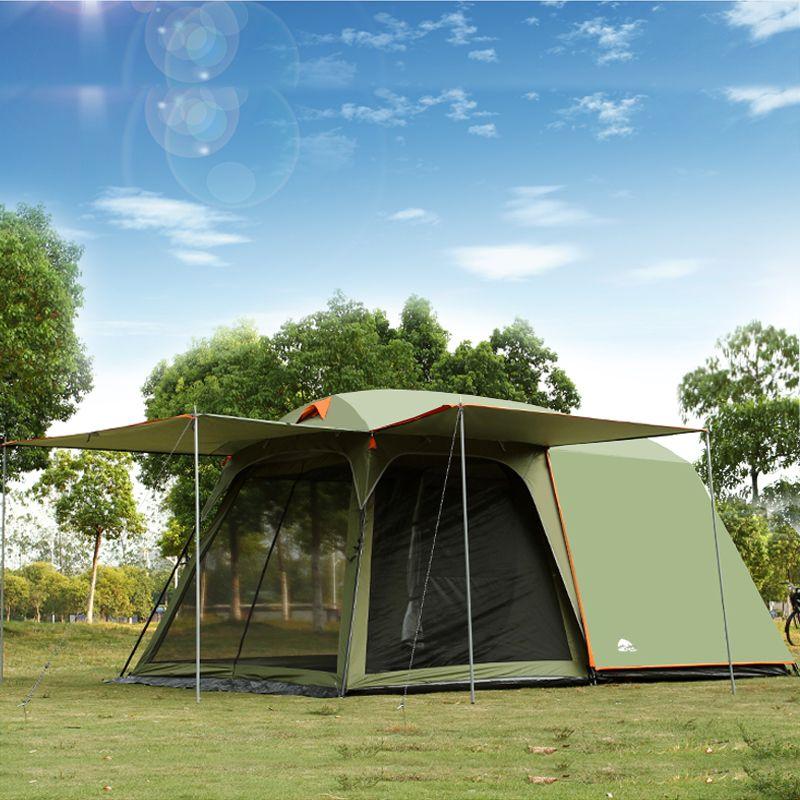 Authentic 4-8 person outdoor camping 1 Halle 1 Schlafzimmer anti-regen wind big reisen camping zelt in gute qualität große raum