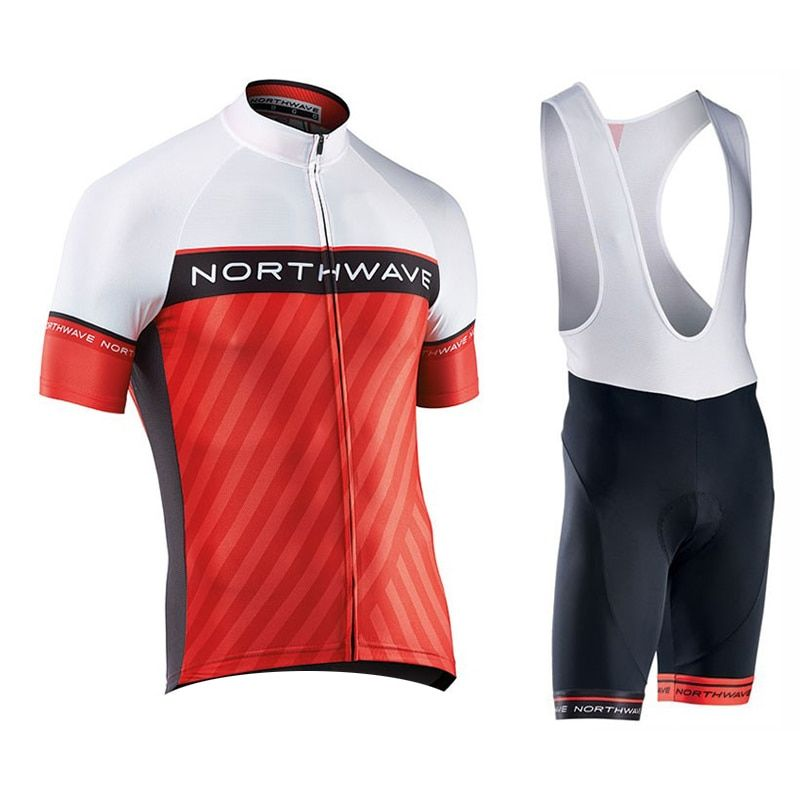 NW 2018 NORTHWAVE Summer Men Cycling Jersey Short Sleeve Set Breathable bib shorts Bicycle Clothes Gel Pad Clothing #14