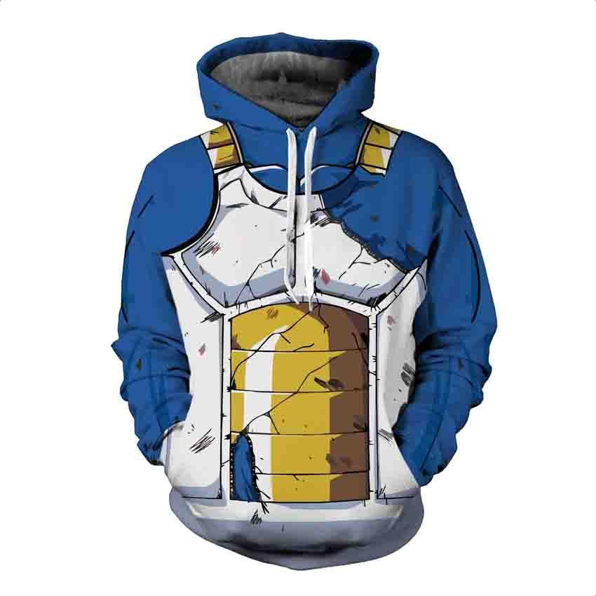 Naruto 4th Hokage Dragon Ball Z Hoodies 3D Print Pullover Sweatshirt Super Saiyan Son Goku Black Vegeta Sasuke Kakashi Outfit