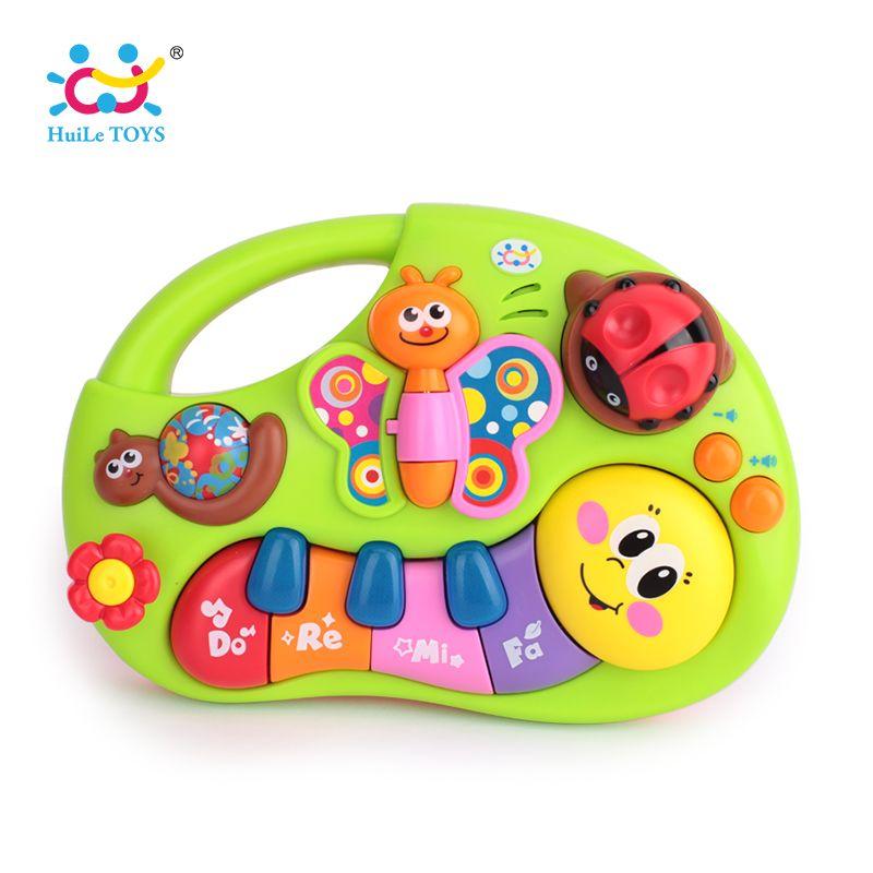 Huile Игрушечные лошадки 927 Игрушки для маленьких детей Обучающая машина игрушка с огнями и музыкой и обучения истории Игрушечные Музыкальные...