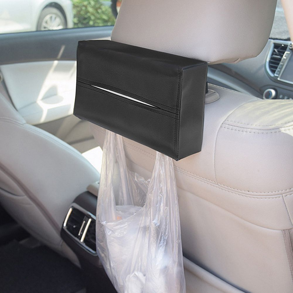 Car Interior Accessories Container Napkins Holder Car Styling Tissue Box Portable Convenient Car Tissue Box Cover Leather