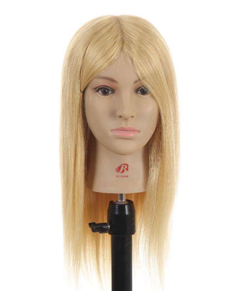 New Hairdressing Training Heads 100% Human Hair 16