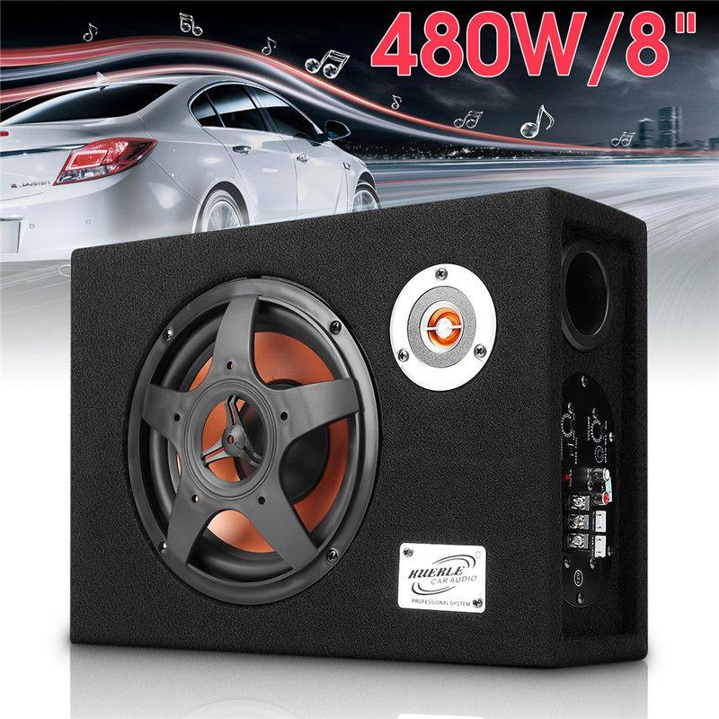 8 ''480 watt 12 v Auto Subwoofer Schlanke Unter-Sitz Lautsprecher 21mm Auto Audio Sub Woofe Wired 8 zoll Ultra Dünne Auto Power Verstärker Lautsprecher