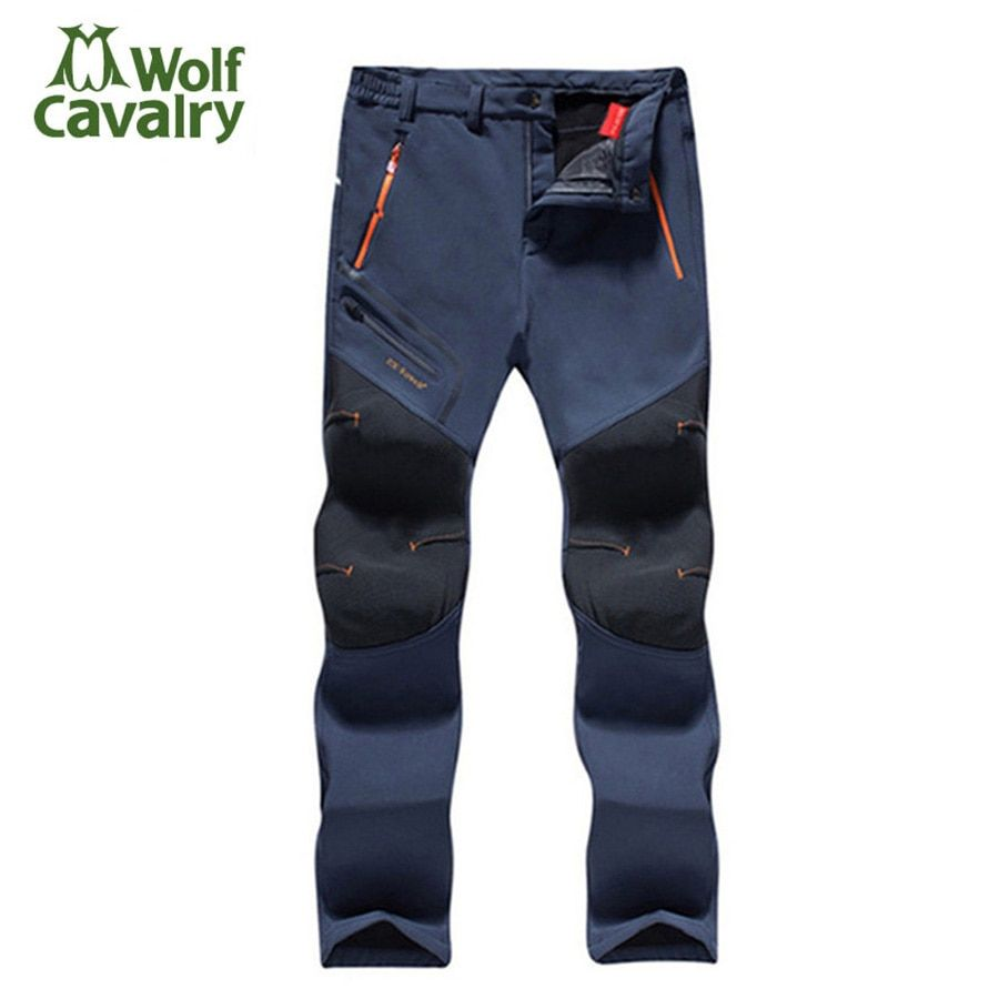 Fleece Men Women Hiking Pants Outdoor Softshell pant Winter Trousers Waterproof Windproof Thermal for Camping Ski Climbing