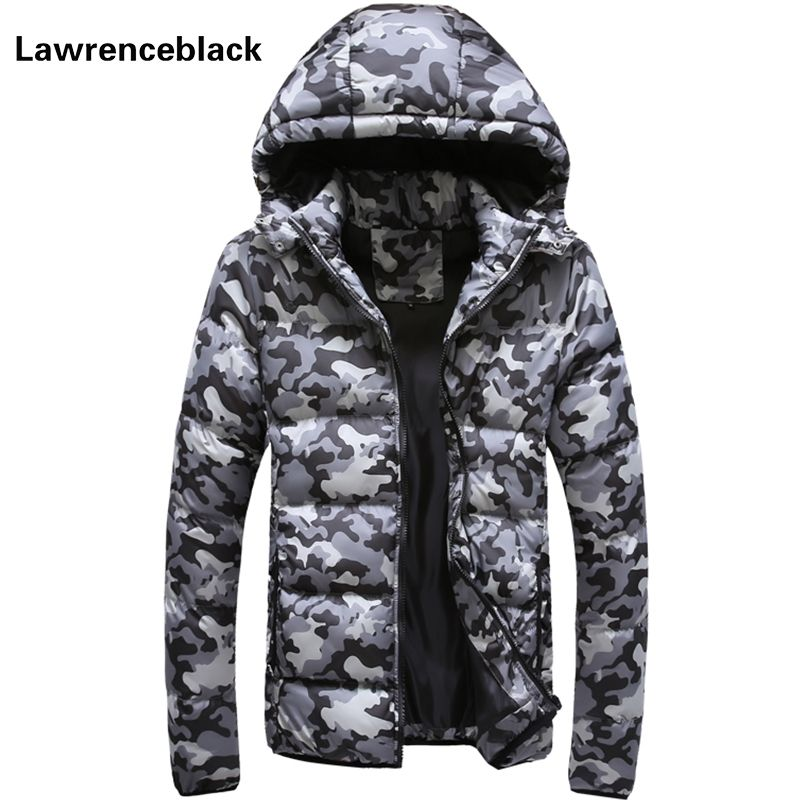 Men's Winter Jacket Warm Camouflage Jackets Men Padded Hooded Overcoat Casual Brand Down Parka Plus Size 5XL Drop Shipping 852