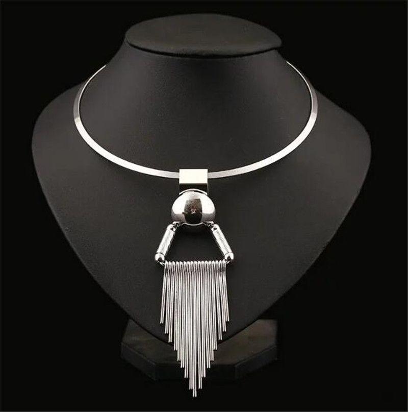 Элегантный Родий золото Колье для Для женщин 316L Нержавеющаясталь Чокеры Цепочки и ожерелья Модные украшения ожерелье