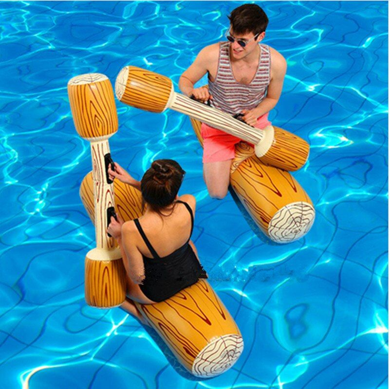 4 Pieces Inflatable Water Sport Plaything For Children Adult Party Supply Gladiator Raft Swimming Pool Float Game Toys