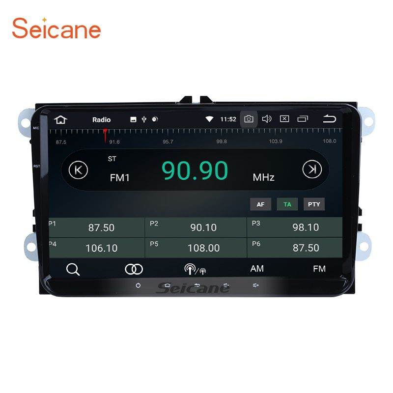 Seicane 9 inch Android 8.0 car radio GPS Navigation for 2008-2013 VW Passat Tiguan Scirocco with 4G WiFi Steering Wheel Control