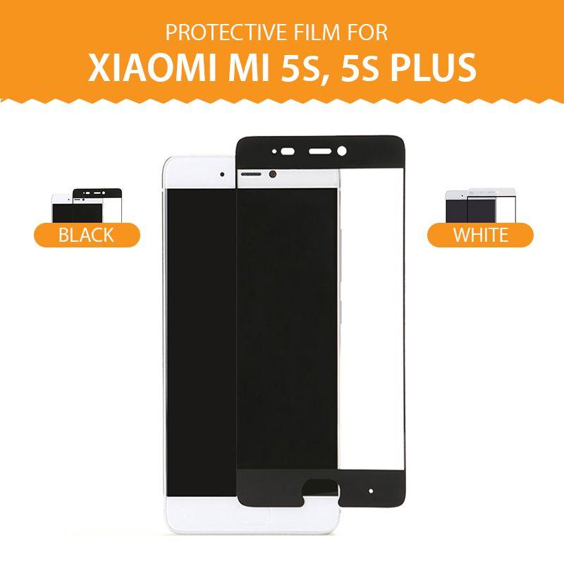 Pour xiaomi 5s 5 splus doux pet nanomètre anti explosion écran protecteur film 3d pleine couverture courbe protection (pas trempé verre)