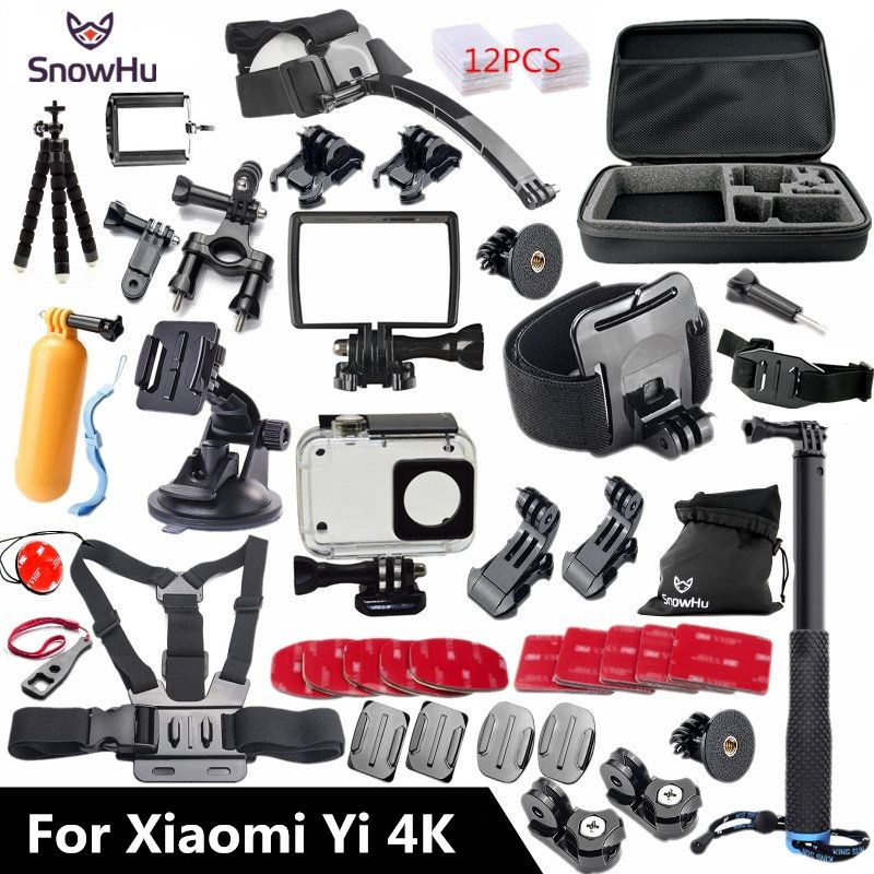 SnowHu Para Xiaomi Yi 4 K Accesorios Pulpo Trípode Monopie Stick para Xiaomi Yi 4 K Yi2 Cámara Acción Internacional 2 II GS27