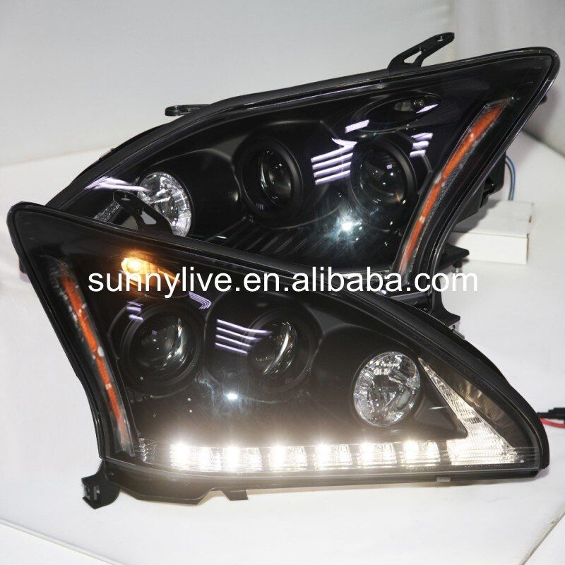 led Head Lamp for Lexus RX330 RX300 R350 2004-2009 year Black Housing Yellow Reflector SN