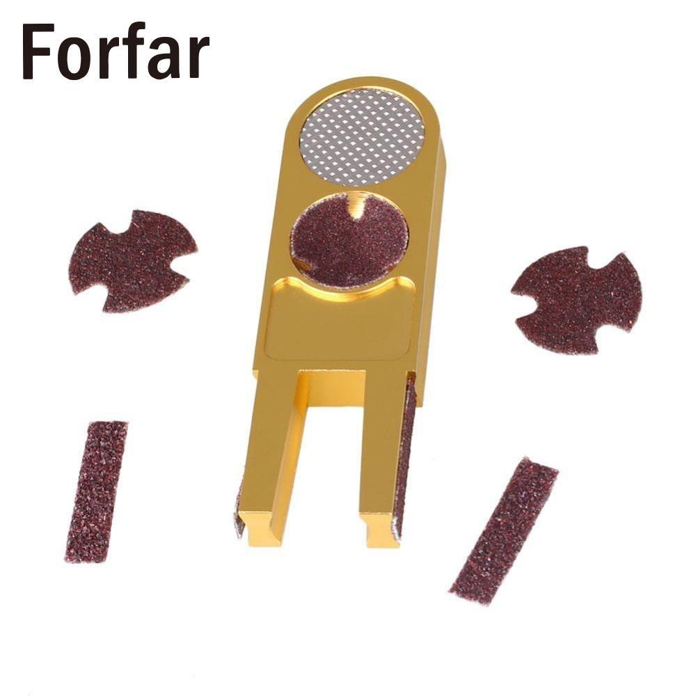 Forfar U shape Golden Ultimate Tip Tool Multi functional cue tip Trimmer billiard pool cue tools accessories