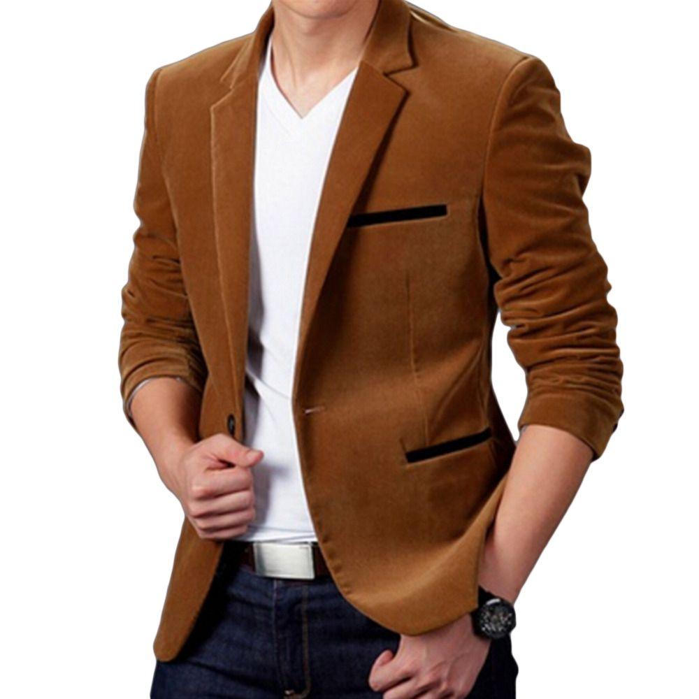 Neue Ankunft Luxus Männer Blazer Neue Frühlingsmode Marke Hochwertiger Baumwolle Slim Fit Männer Anzug Terno Masculino Blazer Männer