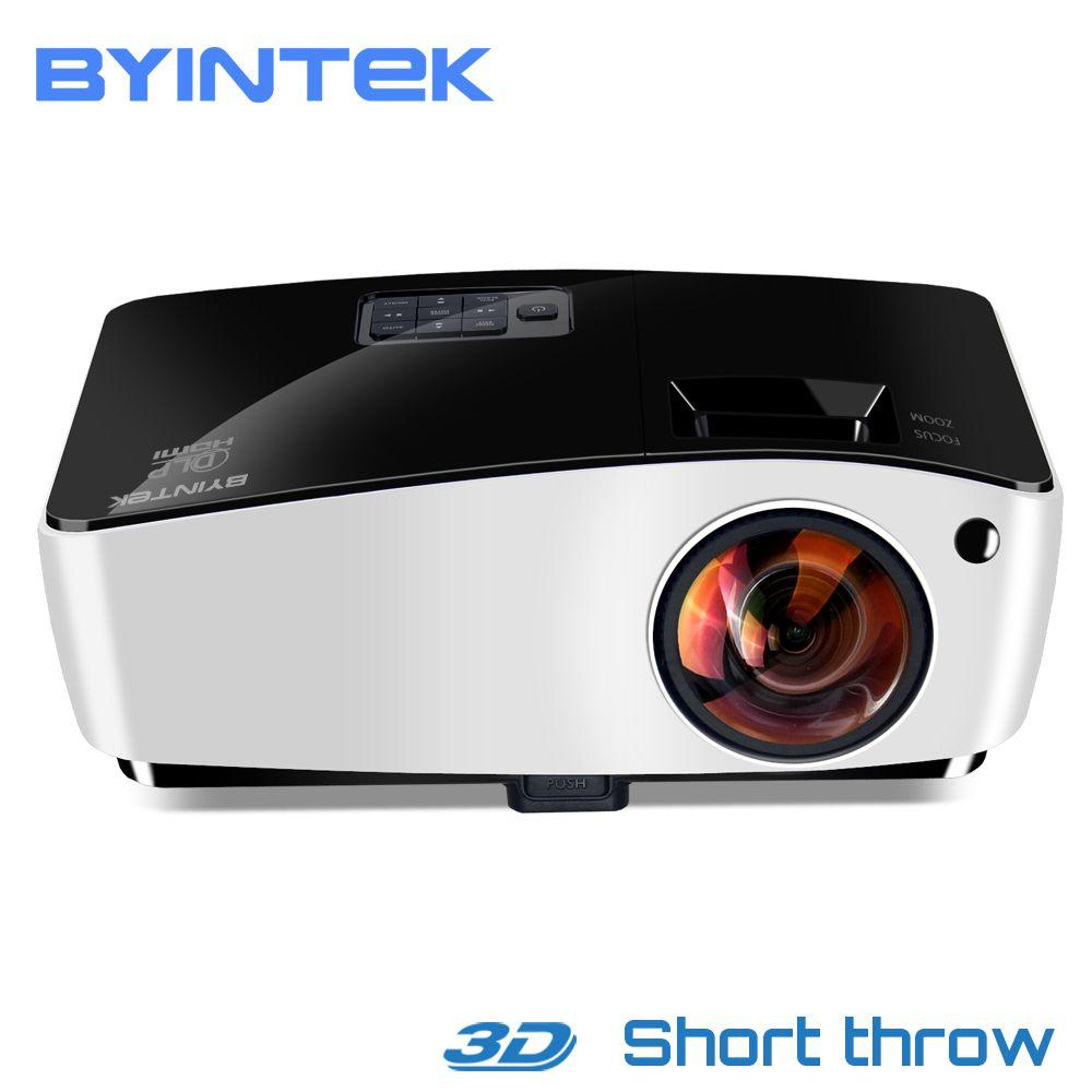 BYINTEK Wolke K5 DLP Kurz Werfen 3D Video HD Projektor Für Tageslicht Bildung Hologramm Business Volle HD 1080 P Film heimkino